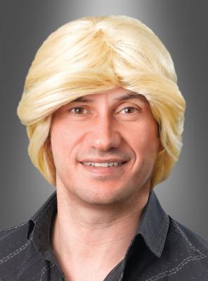 Blonde Schlagerperücke für Herren