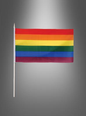 Stofffähnchen Regenbogen  29x17 cm