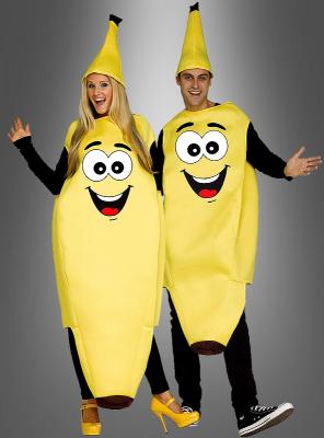 Lustiges Bananenkostüm mit Gesicht