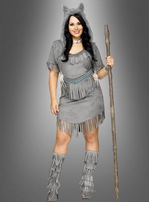 Indianer Kostüm Damen XXL Wolfstänzerin