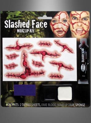 Aufgeschlitzte Wunden Makeup