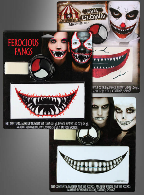 Freakshow Face Tattoo Kit