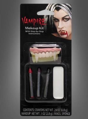 Vampirgebiss mit Makeup Set