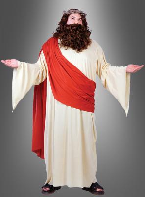 XXL Jesus Robe mit Perücke und Bart