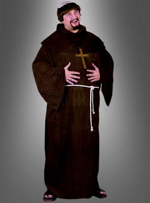 Mönchskutten XXL mit Perücke für Herren