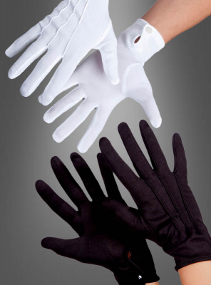 Theatrical deluxe gloves black or white