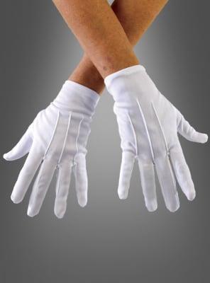 Deluxe Handschuhe Baumwolle mit Biesen