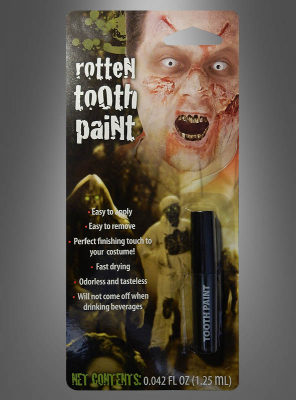 Rotten Zombie Tooth Paint