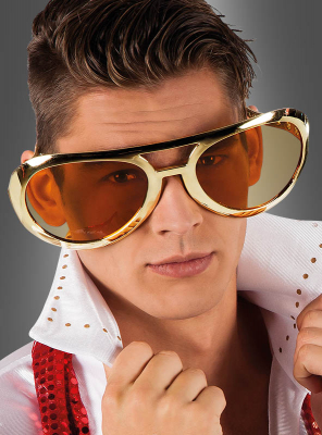 Riesige King of Rock Brille gold