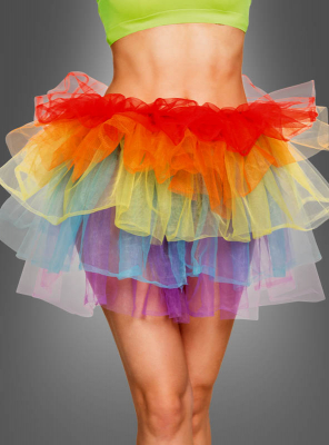 Tulle Skirt Women Rainbow