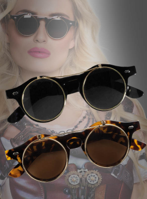 Flip-Up Steampunk Glasses