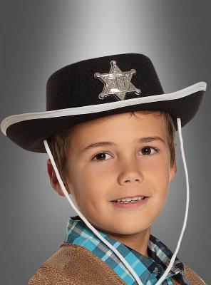 Sheriffhut für Kinder Cowboykostüm