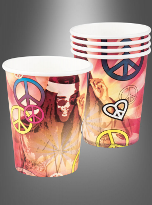 Hippie Paper Cups 6 pc.