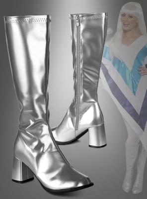 Silberne Stiefel für Damen