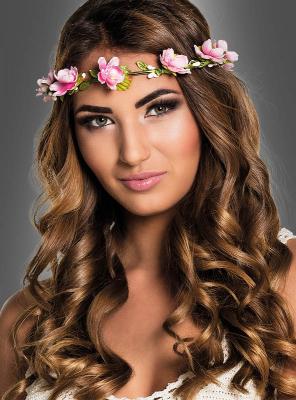 Blüten Haarkranz pink