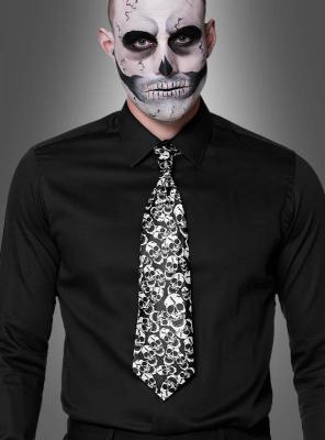 Halloween Krawatte Totenkopf