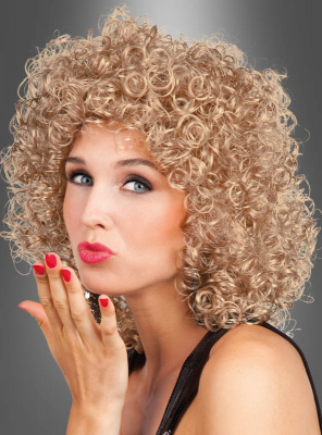 Lockenkopf Perücke Damen blond