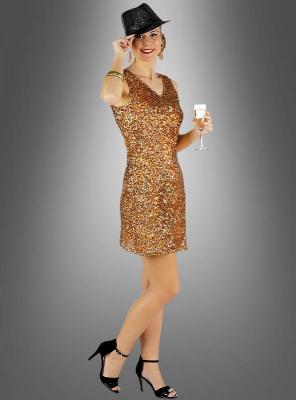 Diva Paillettenkleid gold