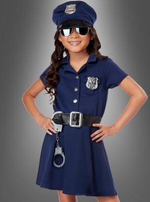 Polizistin Mädchenkostüm US Cop