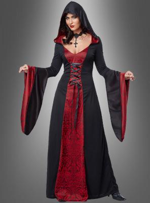 Priesterin Kostüm Gothic Robe für Damen