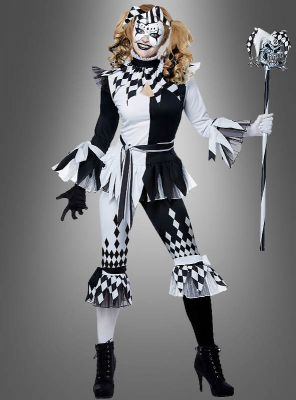 Harlekin Clown für Damen