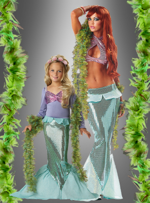 Seaweed boa for mermaid costum