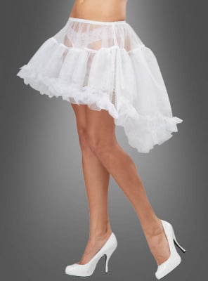 Hi-Low Pettiskirt white