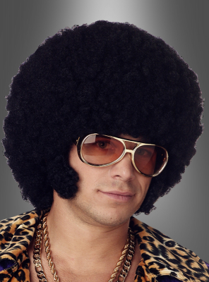 Black Afro Wig with Chops