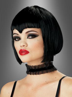 Vampire Vampiress wig short black