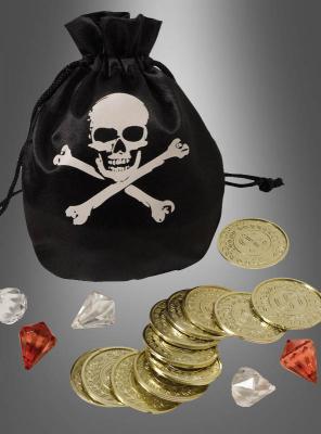 Piraten Schatzbeutel mit Goldschatz