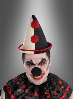 Clown Spitzhut schwarz beige