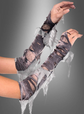 Tattered Halloween Arm Warmers