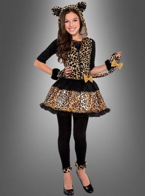 Leopard Kinderkostüm 5-teilig