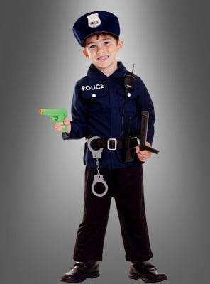 Polizei Kinderkostüm und Waffen Set