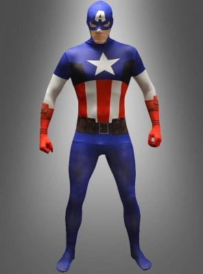 Captain America Morphsuit für Erwachsene