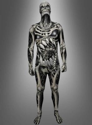 Morphsuit Skelett Skull and Bones