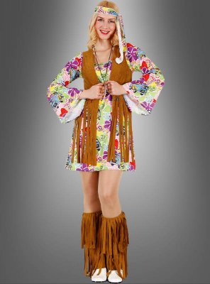 Hippie Flower Dress with Fringe Vest