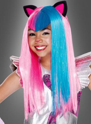 Catty Noir Perücke pink-blau Monster High