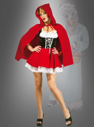 Deluxe sexy Rotkäppchen Märchen Kostüm