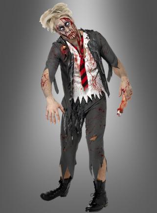 Zombie Schuluniform Herrenkostüm