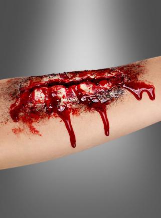 Offene Wunde aus Latex