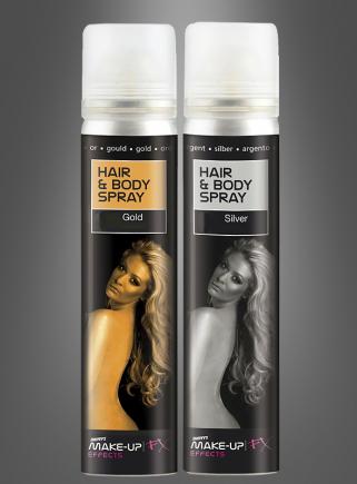 Glitterspray Makeup 75ml gold oder silber
