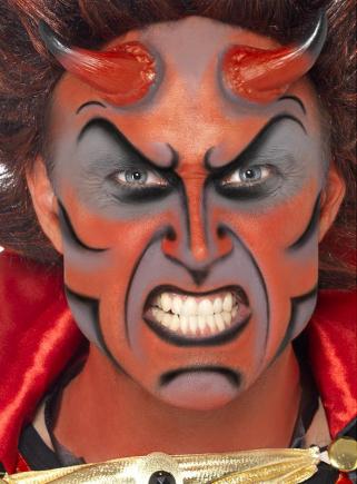 Teufel Schmink Set mit Hörnern
