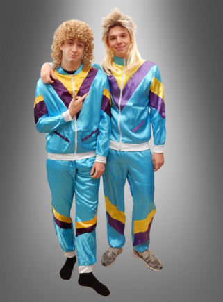 80er Trainingsanzug blau