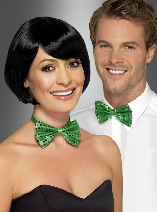 Green Bow Tie with Sequins