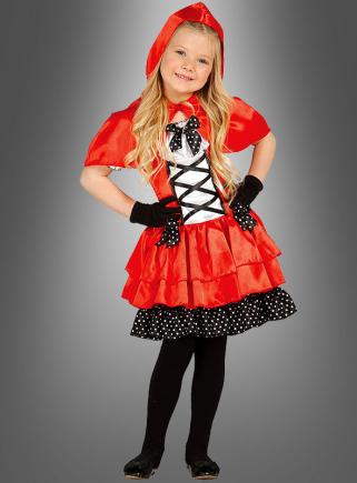 Süßes Rotkäppchen Kleid Kinder