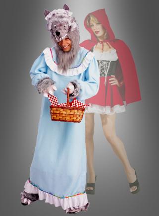 Großmutter Kostüm Wolf blau Herenkostüm