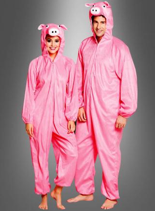 Schwein Kostüm rosa für Erwachsene