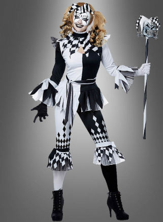 Harlekin Clown für Damen