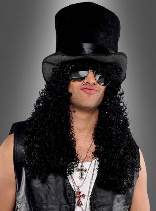 Rockstar Hut mit langen Haaren